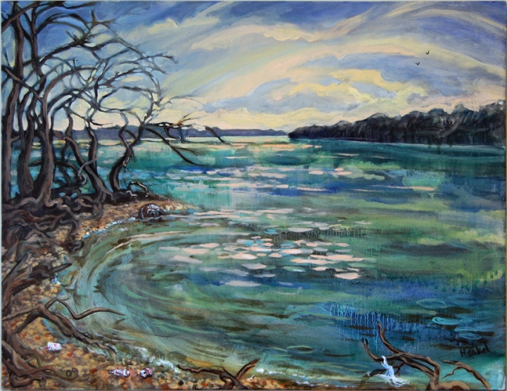 oil painting of Piscataway Bay, MD